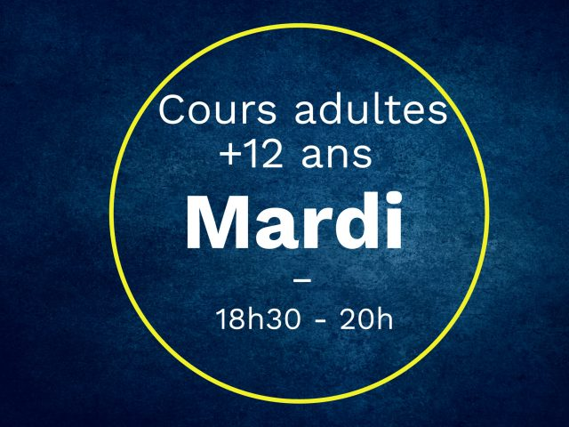 cours Mardieadultes